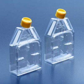 TISSUE CULTURE FLASK WITH RE-CLOSABLE LID